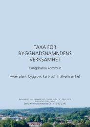 Taxa för Byggnadsnämndens verKsamhet - Kungsbacka kommun