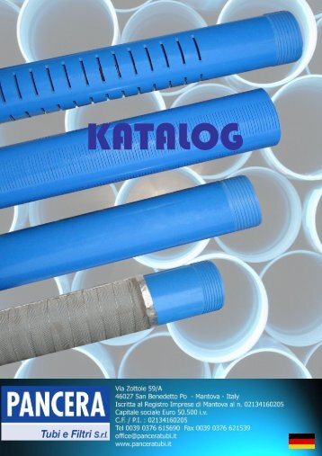 catalogo 2008 tedesco per download - pancera tubi e filtri srl