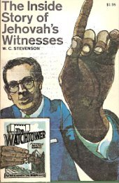 The Inside Story of Jehovah's Witnesses - Watchtower Documents