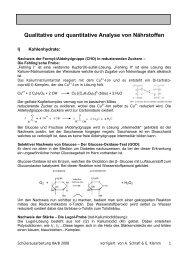 Qualitative und quantitative Analyse von Nährstoffen