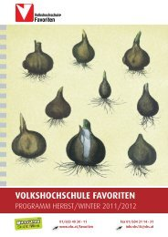 VOLKSHOCHSCHULE FAVORITEN - Verband Wiener Volksbildung