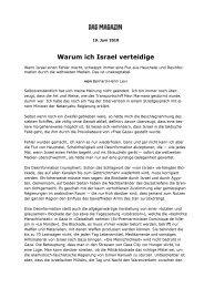 2010_06_19 - DAS MAGAZIN Warum ich Israel verteidige