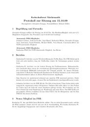Protokoll 15.10.2009 - My-fsr