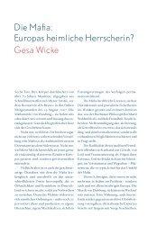 Die Mafia: Europas heimliche Herrscherin? - Studienkolleg zu Berlin