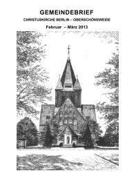 Februar und März - Evangelische Kirchengemeinde ...