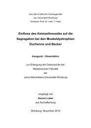 Einfluss des Keimzellmosaiks auf die Segregation bei den - OPUS ...