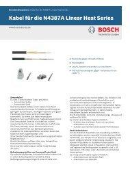 Kabel für die N4387A Linear Heat Series - Bosch Security Systems
