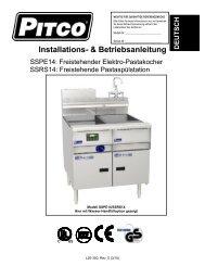 Installations- & Betriebsanleitung - Pitco
