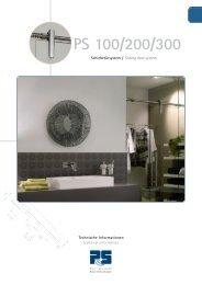 Glastüranlagen PS100, PS200, PS300 (PDF 1.6 MB) - Pauli