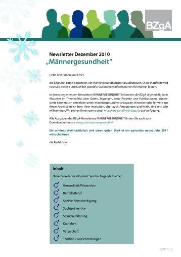 Newsletter Dez.2010 - Deutsche Gesellschaft für Mann und ...