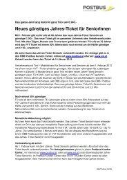 Senioren Jahres-Ticket 2013 - Postbus