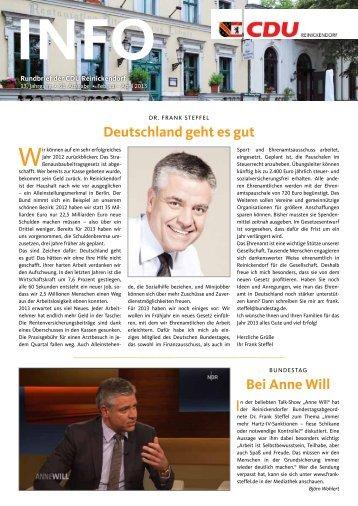 Deutschland geht es gut Bei Anne Will - CDU Reinickendorf