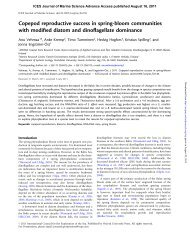 Copepod reproductive success in spring-bloom communities with ...