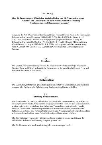 Strassen_Hausnummernsatzung.pdf - Stadt Germering