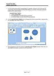 PowerPoint 2007 Objekte beschriften