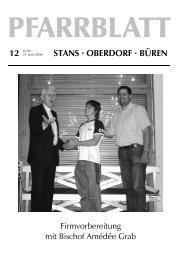 Pfarrblatt Nr. 12/06 - Pfarrei Stans