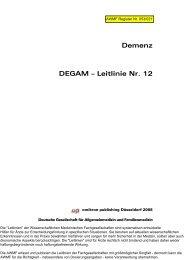 Demenz DEGAM – Leitlinie Nr. 12 - AWMF