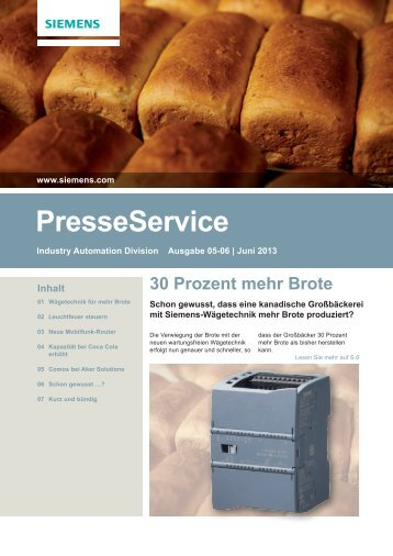 PresseService Juni 2013 - Siemens