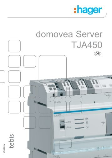 domovea Server TJA450: Konfiguration Fernzugriff - Hager
