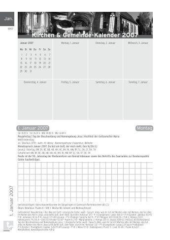Januar 2007 - Kirchen & Gemeinde-Kalender