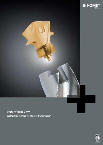 KOMET KUB K2 - Wechselkopfbohrer für kleinste Durchmesser