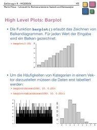 High Level Plots - Lehrstuhl für Rechnerorientierte Statistik und ...