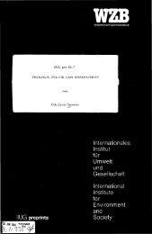 Internationales Institut für Umwelt und Gesellschaft International ...