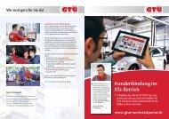 GTÜ-Broschüre: Marketingtipp für Kfz-Betriebe