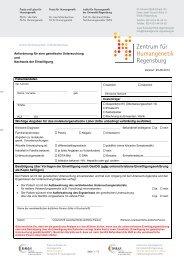 Anforderungsformular Molekulargenetik mit Einwilligungsnachweis