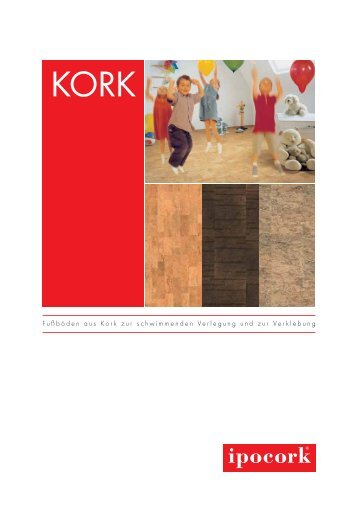 Fußböden aus Kork zur schwimmenden Verlegung und zur ...