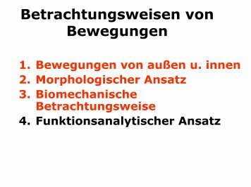 Betrachtungsweisen von Bewegungen - h-schlenke.de