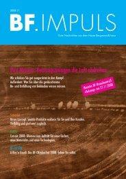 bf.impuls 11/08 downloaden - Bergmann & Franz