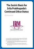The Sastric Basis for Srila Prabhupada's Continued DiksaStatus - Page 3