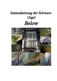 Reinigungs-/Dokumentationsbericht der Belower Schwarz-Orgel