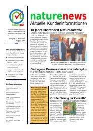 naturenews August 2004 - natureplus