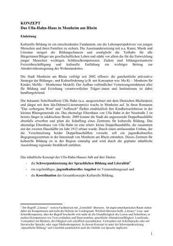 Konzept Ulla-Hahn-Haus_Antrag LVR 31 05 2011 - Monheim am ...