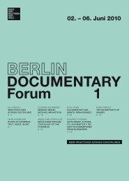 DOCUME Forum DOCUMENTARY Forum 1 - Haus der Kulturen der ...