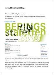Instruktion tilmelding: - Beringsstafetten