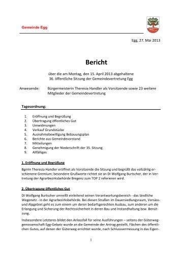 GV-Sitzung vom 15.04.13.pdf - Gemeinde Egg