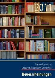 Neuerscheinungen - Domowina-Verlag Bautzen