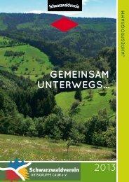 Wanderplan Schwarzwaldverein Calw (PDF)