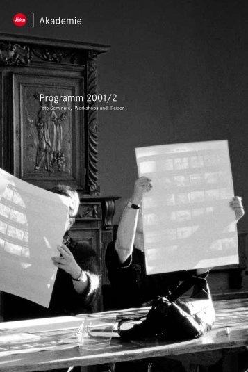 Akademie Programm 2001/2 - Leica Point újratöltve...
