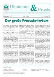 Ökonomie u. Praxis, April 2011 - Kärntner Gebietskrankenkasse