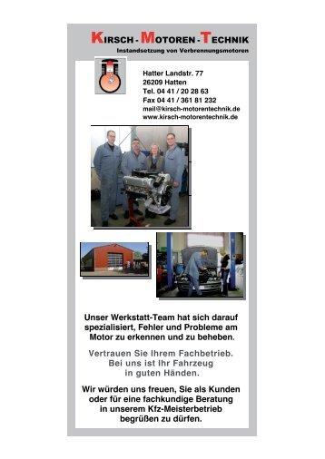 KIRSCH - MOTOREN -TECHNIK Unser Werkstatt-Team hat sich ...