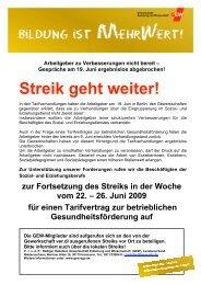 Streikaufruf bis 26#2FC94F1 - GEW Niedersachsen