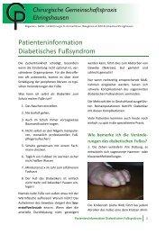 Patienteninformation Diabetisches Fußsyndrom