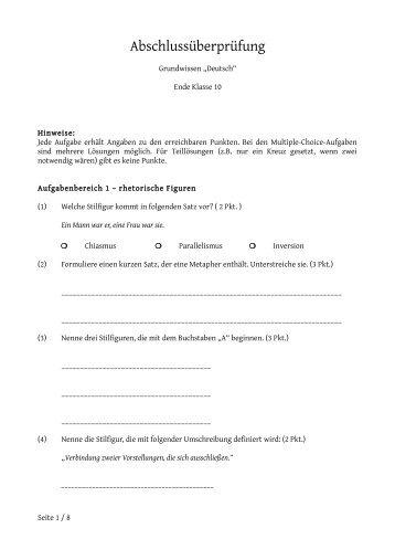 Abschlussüberprüfung - Riecken