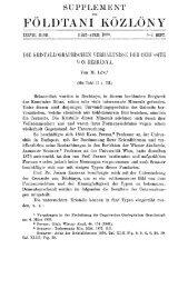 Földtani Közlöny 38. köt. 1908. 3-4. füzet - EPA