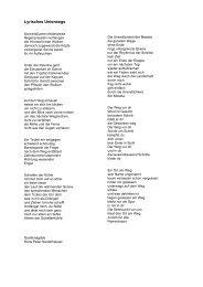 Lyrisches Unterwegs