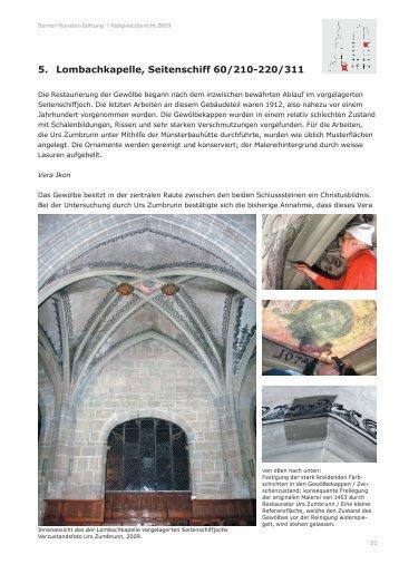 5. Lombachkapelle, Seitenschiff 60/210-220/311 - Berner Münster ...